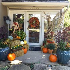 Festive Fall Front Porch Decor - I may have gone a tad overboard this year!