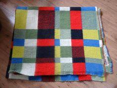 vintage blanket with label TETEM