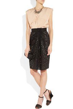 Vionnet - Cotton eyelet skirt