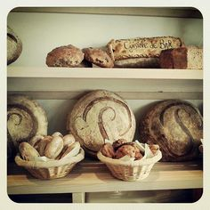 """Poilane is a world famous bakery 300 year old oven"""" footballs"""" since 1932 8 rue du Cherche-Midi"""