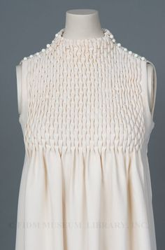 Smocked dress by  Jeanne Lanvin  c. 1968  FIDI Museum display