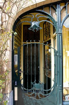 Art Nouveau gate, Weimarstraat, The Hague, Netherlands