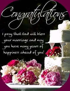 Wedding Greetings for Bride and Groom Wedding Wishes For Friend, Wedding Wishes Messages, Anniversary Wishes For Friends, Anniversary Sayings, Condolence Messages, Wedding Congratulations Quotes, Wedding Greetings, Congratulations Greetings, Happy Marriage Anniversary Cake