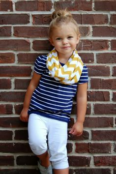 Cute Toddler Outfits: The Girl in the Striped Tshirt