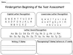 Back to School Kindergarten Assessment Back to School Kindergarten Assessment – Kindergarten Lesson Plans Kindergarten Assessment, Kindergarten Lesson Plans, Preschool Kindergarten, Kindergarten Reading, Letter Assessment, Preschool Door, Kindergarten Projects, Preschool Activities, 1st Day Of School