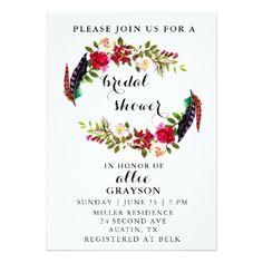 #bridal - #Floral Watercolor Bridal Shower Invitation