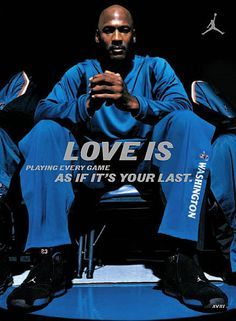 "LOVE IS Michael Jordan MJ AJ 23 NBA MVP SUPER STAR 14""x19"" Poster ajxviii18"