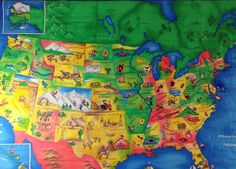 Teacher Graduation Gifts, Map Quilt, Fiber Art Quilts, Quilted Wall Hangings, Child's Room, Family Gifts, Gifts For Kids, Fun Facts, Artists