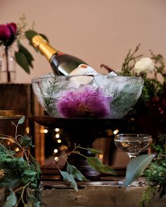 Getting in the holiday spirit with @taittingerusa. They call it Christmas in July. I call it a Christmas miracle that this ice bucket turned out & that @_seandooley_ was able to forage those greens. Cheers to that & a great team including @parisiansugar #thejudylab