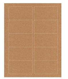 Rebinder Kraft Laser Labels labels per sheet, 25 sheets per pack) Laser Labels