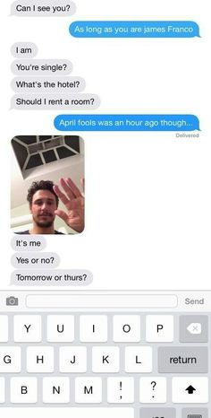 James Franco!  The conversation appears to progress to text message: | Did James Franco Try To Meet Up With An Underage Girl Over Instagram?