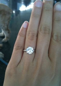 Love this 2 ct solitaire ring