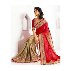 Divine Georgette Embroidery Festive Wear & Party Wear Saree at just Rs.1020/- on www.vendorvilla.com. Cash on Delivery, Easy Returns, Lowest Price.
