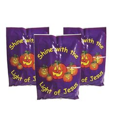 Pumpkin Shine with Jesus Halloween Bags (50 Count) > You can get more details here : Wrapping Ideas