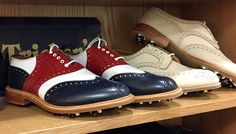 Tricker's X Wolsey golf shoes: A visit to Tricker's shoe factory shop and a Mr Benn moment — Northampton shoes