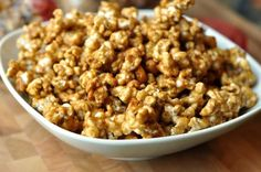 Butter toffe popcorn recipe - this was incredible! I use 1 cup of unpopped popcorn instead of the cup in recipe. Toffee Popcorn, Toffee Pops, Butter Popcorn, Popcorn Recipes, Snack Recipes, Cooking Recipes, Gourmet Popcorn, Dip Recipes, Bread Recipes