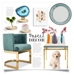 """""""Pastel home design"""" by natalyapril1976 ❤ liked on Polyvore featuring interior, interiors, interior design, home, home decor, interior decorating, Serena & Lily, Moustache, Rifle Paper Co and WALL"""