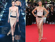 Adriana Lima In Alexandre Vauthier Couture – 'The Homesman' Cannes Film Festival Premiere