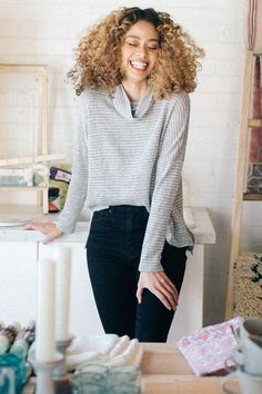 c490f3419e3 Knit While You re Ahead Sweater in Grey