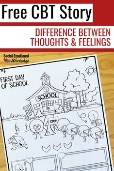 CBT activity ideas for elementary school counseling that helps students understand thoughts and feelings. Free CBT story you can download to guide students to make the connection. Hands-on activities, CBT worksheets, children's books, and games help students understand this abstract concept.