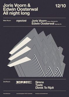 Rejected posters by Christoph Voorn, via Behance