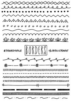 11 Simple Planner Doodles for Your Bullet Journal with Step by Step Process . - Journals and their Doodles - # Bullet Journal Inspo, Borders Bullet Journal, Bullet Journal 2019, My Journal, Bullet Journal Dividers, Journal Ideas, Bullet Journal Design Ideas, Bullet Journal Hand Lettering, Bullet Journal Banner