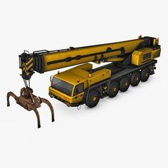 Max Mobile Crane Industrial - 3D Model