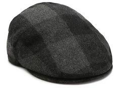Aston Grey Buffalo Plaid Newsboy Cap | DSW
