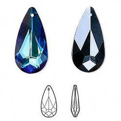Swarovski Crystal Teardrop Pendant
