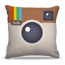 Almofada instagram cinza nerderia