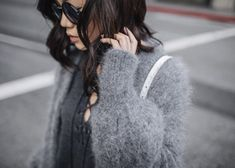 Why Grey (Tsangtastic) Love Style Life, Louise Ebel, Delphine Manivet, Happily Grey, Angora Sweater, Edgy Look, Parisian Style, Amy Jackson, Paris Fashion