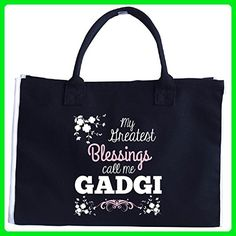 My Greatest Blessing Call Me Gadgi - Tote Bag - Top handle bags (*Amazon Partner-Link)