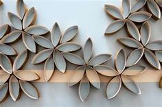 Toilet Paper Roll Flower Clusters