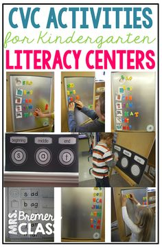 Lots Of Fun Literacy Activity Ideas And Teaching Tips To Help Students Learn And Practice Cvc Words In Kindergarten And First Grade 1st Grade Activities, Word Work Activities, Kindergarten Activities, Kindergarten Names, First Grade Words, Word Work Stations, Cvc Words, Teaching Tips, Literacy Centers