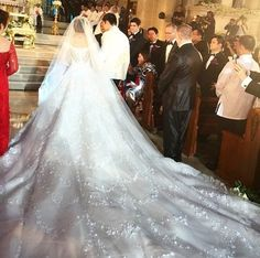 nozze di Marian Rivera e Dingdong Dantes 1 Couture Wedding Gowns, Designer Wedding Gowns, Luxury Wedding Dress, Sexy Wedding Dresses, Bridal Gowns, Dream Wedding, Perfect Wedding, Michael Cinco, Marian Rivera Wedding Gown