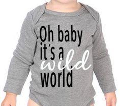 Oh Baby It's a Wild World Onesie in Heather Grey – Roman & Leo
