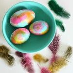 Before they were cool, my paternal grandfather always made these -- Watercolor Easter Eggs! I always thought they were the coolest things I'd ever seen (still do)!