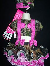PAGEANT CASUAL WEAR FALL 18MTH/2T/3PETITE CAMO MOSSY OAK HOT PINK 7PC