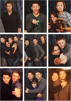 Photoshoots, Supernatural style. Can I just say how jealous I am?!? Hahaha the bottom right one! Hahaha: different lighting and everything! Bwahahahaha!