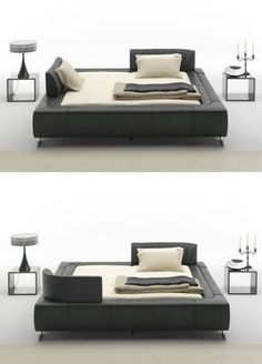 Bed with adjustable headboards and other really creative headboard ideas
