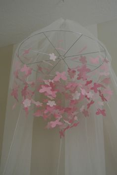 I am going to do this with my veil from my wedding...it has Daisha's embroidered in the lace