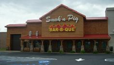 Smok'n Pig BBQ in Valdosta, GA.  Manager said it was in the top 10 nationally so I guess I need to find the other 9.