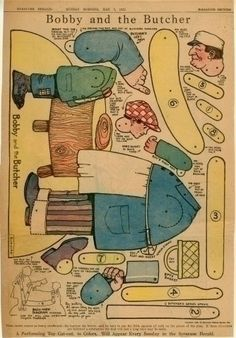 77.262: Bobby and the Butcher   paper toy   More Toys   Toys   Online Collections   The Strong