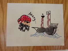 Arts And Crafts With Beads Pirate Ship Craft, Pirate Crafts, Pirate Art, Daycare Crafts, Classroom Crafts, Preschool Crafts, Toddler Art, Toddler Crafts, Infant Toddler