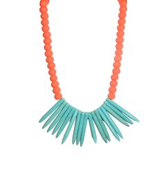 Electra Necklace in Neon Orange