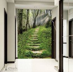 Wood trail Landscap Wall Paper Wall Print Decal Wall Deco Indoor wall Mural Home