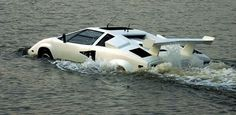 Amphibian Lamborghini - I guess that if you have the dough, they can make it go...in the water, that is.  giggles