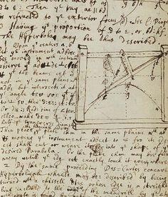 Sir Issac Newton's handwritten description of the curve of a mathematical function.