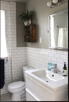 grey walls with grey grout