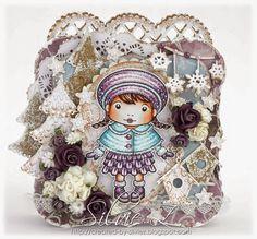 La-La Land Crafts 'Winter Wishes Marci' Handmade OOAK Card - designed by Silvie Z.